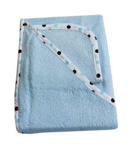Imagen de American Baby empresa 100% algodón orgánico Terry Juego de toallas con capucha, azul