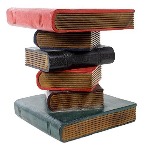 Bcherhocker-Buch-Hocker-Nachttisch-Beistelltisch-Podest-Bcher-Stapel-30-cm-Akazie-Holz-bunt-mehrfarbig