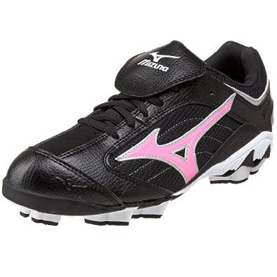 Mizuno Women's Finch Franchise G3 Softball Cleat,Black/Pink,5 M US