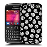 Head Case Black Background Skull Pattern Back Case For Blackberry Curve 9360