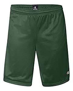 Champion 3.7 oz. Long Mesh Shorts with Pockets - ATHLETIC DARK GREEN - M