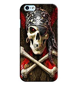 Omnam Skelton With Pirates Printed Designer Back Cover Case For Apple iPhone 6 Plus S