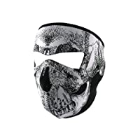 ZANheadgear Neoprene Skull Face Mask (Black/White) by ZANheadgear