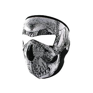 ZANheadgear Neoprene Skull Face Mask (Black/White) by ZANheadgear