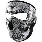 ZANheadgear Full Mask, Neoprene, Black & White Skull Face