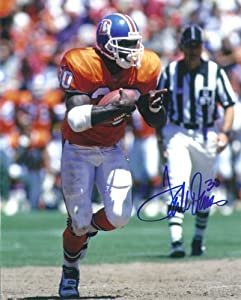 Terrell Davis Autographed Denver Broncos 8x10 Photo (orange uniform) by DenverAutographs