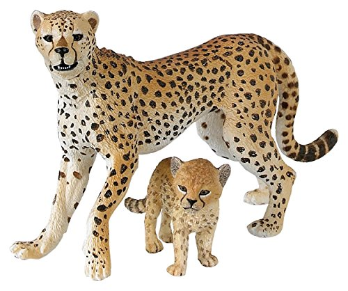 Cheetah with Cub Plastic Replicas
