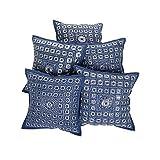 """Rajrang Home Furnishing Décor Cushion Cover Pillow 16"""" X 16'' Blue - B00SMY0JU2"""