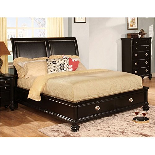 Video review furniture of america helene queen storage for Furniture of america bed reviews
