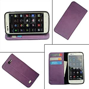 i-KitPit PU Leather Flip Wallet Case For Micromax Canvas knight (PURPLE)