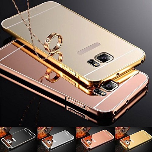 Luxury Aluminum Ultra-thin Mirror Metal Case Cover Reflection Protective Bumper Anti-Scratch Bright For Samsung Galaxy Grand Prime /G530/S7/S7 Edge/A5 Black, Gold, Silver, Rose Gold. 2016 (Samsung Mini S5 Duos Lte compare prices)