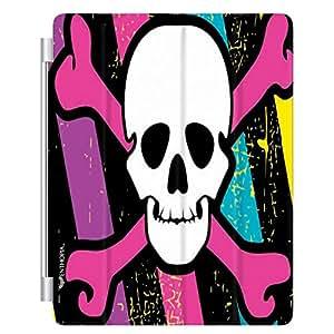 Enthopia Designer Front Smart Cover Colourful Danger for Apple Ipad 2/3/4 with Transparent Back Case