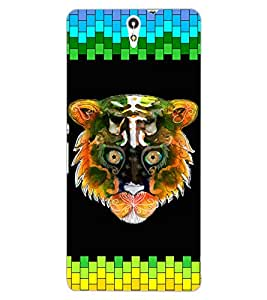 ColourCraft Angry Cat Design Back Case Cover for SONY XPERIA C5 ULTRA DUAL