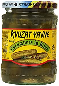 Kvuzat Yavne Cucumber, Brine, 10.5-Ounce (Pack of 6)