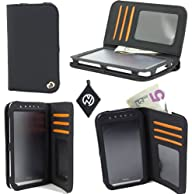 Flat Black Unisex Wallet / Cell phone device Cover Case fits Samsung Galaxy Prevail 2 Ring M840 &…