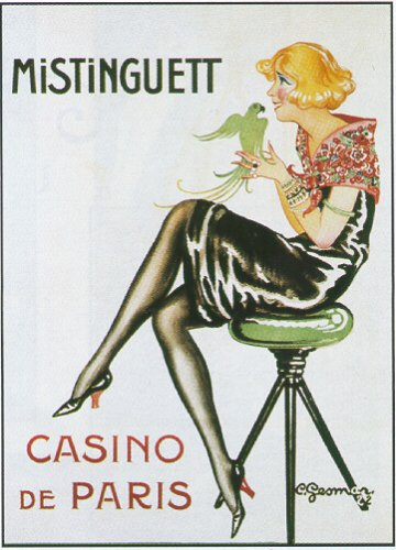 French Vintage MISTINGUETT Music Star in CASINO DE PARIS by Charles Gesmar 1920s