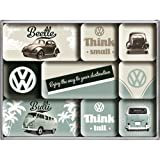 Nostalgic-Art 83054 Volkswagen VW Think Tall und Small, Magnet-Set, 9-teilig