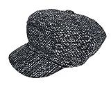 (ビグッド)Bigood レディース キャスケット キャップ 帽子 女優帽 ハンチング帽 ベレー帽 小顔効果 カジュアル ファッション小物 キャップ(グレーF)