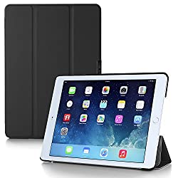 iPad Air 2 Case, i-Blason Apple iPad Air 2 Case [2nd Generation 2014 Release] i-Folio Slim Hard Shell Stand Case Cover [Life Time Warranty] for iPad Air 2 (iPad Air 2, Black)