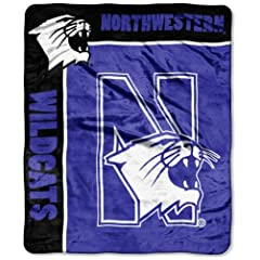 Buy NCAA Northwestern Wildcats School Spirit Royal Plush Raschel Throw Blanket, 50x60-Inch by Northwest