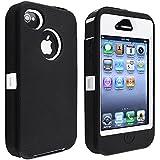 eForCity Insten Hybrid Case for Apple iPhone 4/ 4S - Retail Packaging - Black