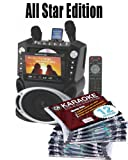 All Star Edition Karaoke USA Karaoke System with 7-Inch TFT Color Screen and Record Function (GF829) FREE Music (150.00 Value) 10 Chartbuster Discs, 12 Song Custom, feat. Walt Disney and More! The 12 Song Custom Card has over 7000 songs to choose from!!! (Thats over 130 Songs)