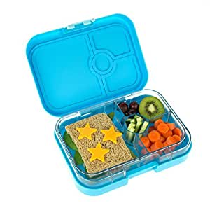 yumbox panino gelato blue leakproof bento lunch box container for kids and adults. Black Bedroom Furniture Sets. Home Design Ideas