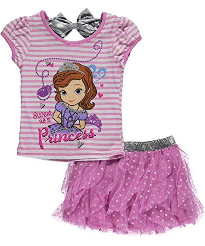 "Sofia the First Little Girls' ""Princess Sweetling"" 2-Piece Outfit - purple, 4"