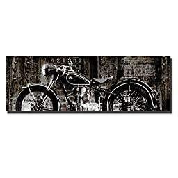 Vintage Motorcycle by Dylan Matthews Custom Gallery-Wrapped Canvas Giclee Art (Ready to Hang)