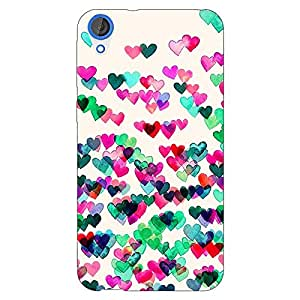 Jugaaduu Hearts in the Air Pattern Back Cover Case For HTC Desire 820Q Dual Sim
