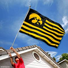 Buy Iowa Hawkeyes University Alumni Nation Stripes Flag by College Flags and Banners Co.
