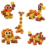 Click-A-Brick Animal Kingdom 30pc Educational Toys Building Block Set - Best Gift For Boys And Girls