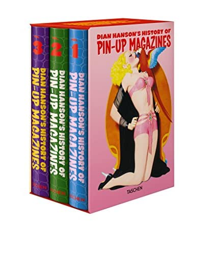 Dian Hanson's History of Pin-Up Magazines Vol. 1-3 Hardcover Coffee Table Book