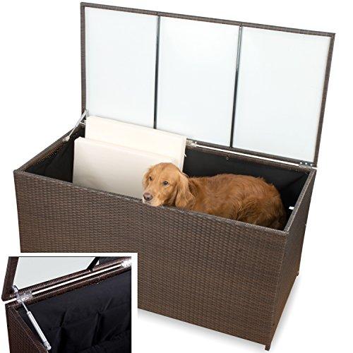XXXL-Gartenmbel-Auflagenbox-Polyrattan-Kissenbox-wasserdicht-Garten-Auflagenbox-braun
