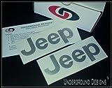JEEP TJ LJ Fender Decals 1997-2006 Sticker Kit METALLIC SILVER by Underground Designs