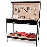 TecTake® Werkbank 160 x 120 x 60 cm Werktisch Werkzeugbank
