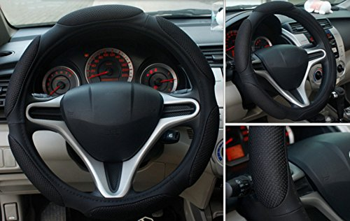 Black Color Top Quality Steering Wheel Cover Auto For Spring, Summer, Winter and Autumn Breathable General 15