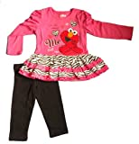 Sesame St Baby-Girls 2 Piece Elmo Pullover and Pant