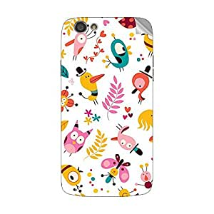 Garmor Designer Mobile Skin Sticker For Spice M 6112 - Mobile Sticker