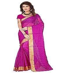 Sanju Elegant Purple Color Cotton Silk Saree