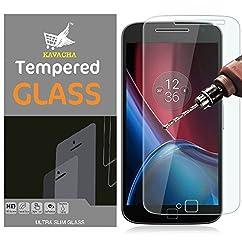 Moto G4 Plus Screen Protector, Kavacha (TM) Moto G 4th Plus Generation Tempered Glass Screen Protector 0.3mm/9H/Bubble Free,Screen Protector for Moto G4 Plus 2016