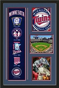 MLB Minnesota Twins Banner With Logos-2011 Minnesota Twins Team Logo photo,... by Art and More, Davenport, IA