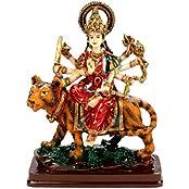 SUNNY CORPS DURGA Resin Statue Idol Showpiece Murti For Home LxHxW(cm) = 13.5x18x6