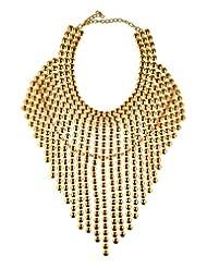 Mistik Golden Non-Precious Metal Necklace Set For Women