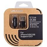 USAMS ULine LED Data Transfer & Charging Cable For IPhone5/5S/6/6Plus/iPad Mini/iPadAir- BLACK