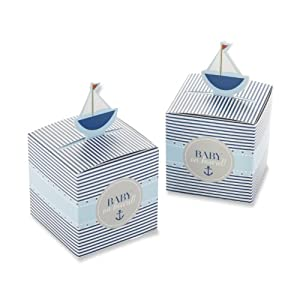 Kate Aspen Baby On Board! Pop-Up Sailboat Favor Box (Set of 24)