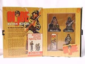 G.I. Joe Action Marine 3 Piece W. Britain Pewter Replicas Paratrooper, Action Marine, Tank Commander (2000)