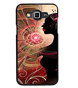 PrintDhaba Pattern Girl D-4119 Back Case Cover for SAMSUNG GALAXY GRAND MAX (Multi-Coloured)