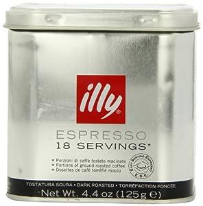Illy Caffe Dark Roast Servings