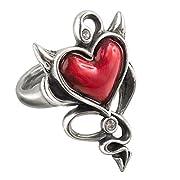 Devil Heart Ring by Alchemy Gothic